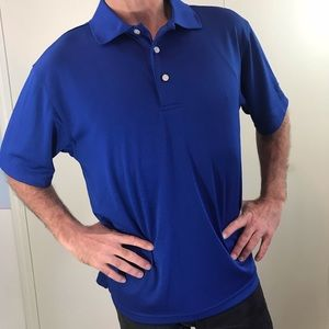 PGA Tour Golf Polo M royal blue